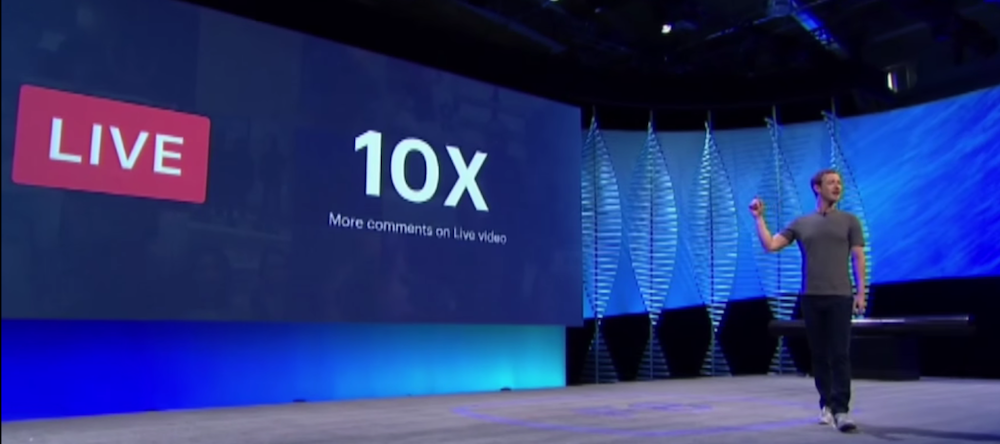 Screenshot from F8 Developer Conference