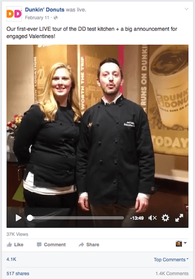 Dunkin Donuts live streaming case study