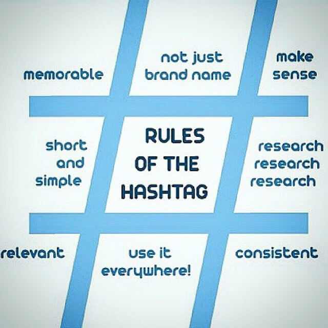 Rules for hashtags - live events