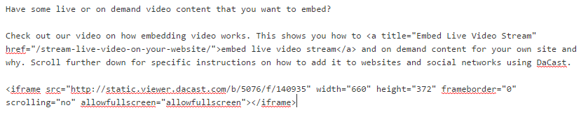 example live streaming on websites