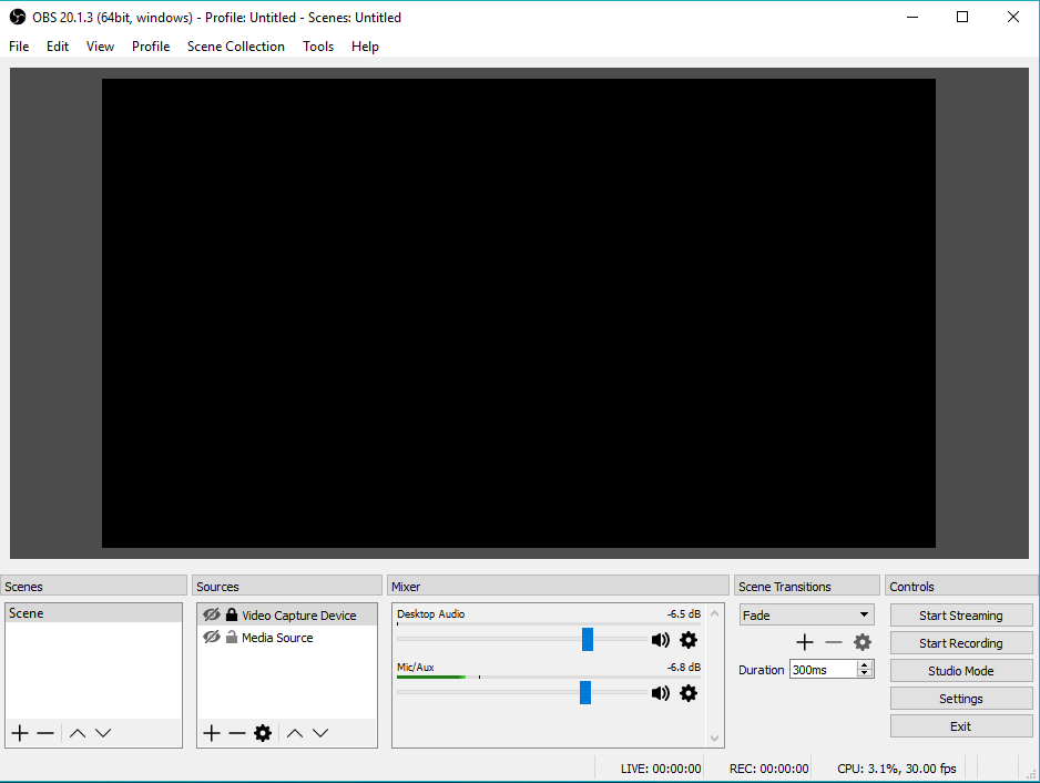 OBS Studio Live software di streaming