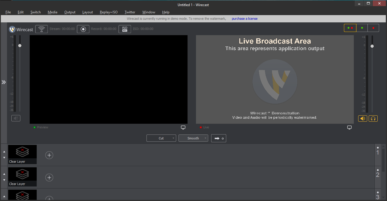 Wirecast software di live streaming